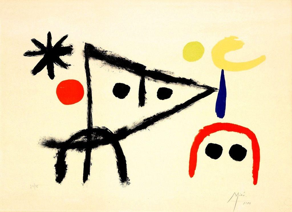 Le Petit Chat Au Claire De La Lune Joan Miró Para Niños Joan Miró Producción Artística
