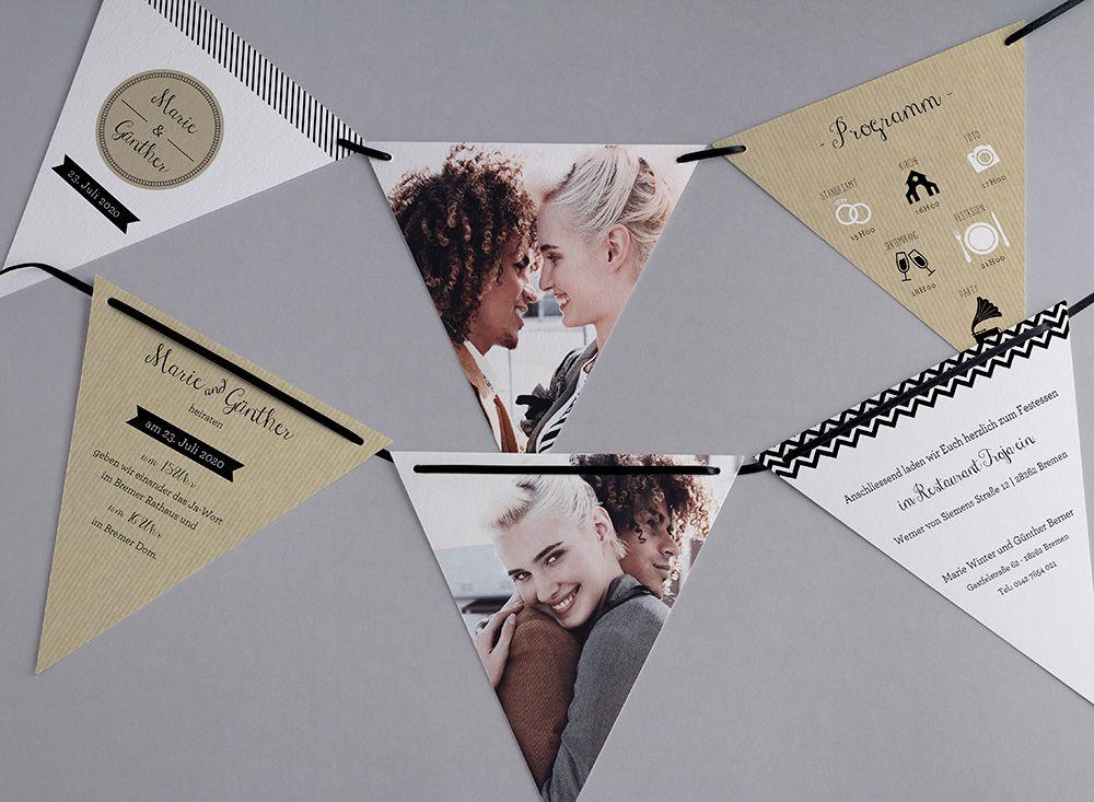 Hipster Hochzeitskarten Kreativehochzeitskarten Einladungskarten