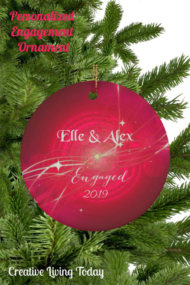 Couple Engagement Ornament Personalized Customized Christmas Gift Tr Christmas Decorations For The Home Our First Christmas Ornament Customised Christmas Gifts