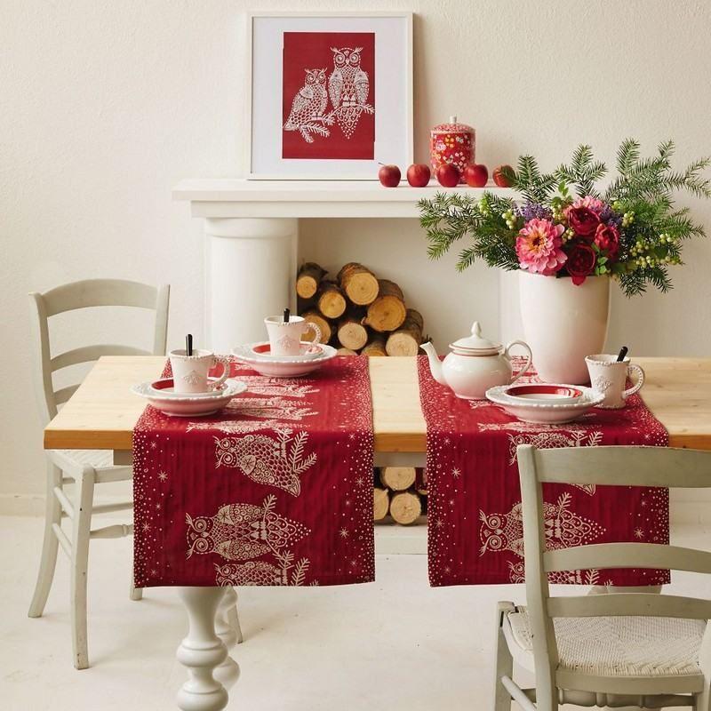 Idee Deco Table Noel Rouge Et Blanc #10: Déco Table Noël Rouge Et Blanc - 50 Idées Qui Unifient Le Moderne Et Le  Traditionnel