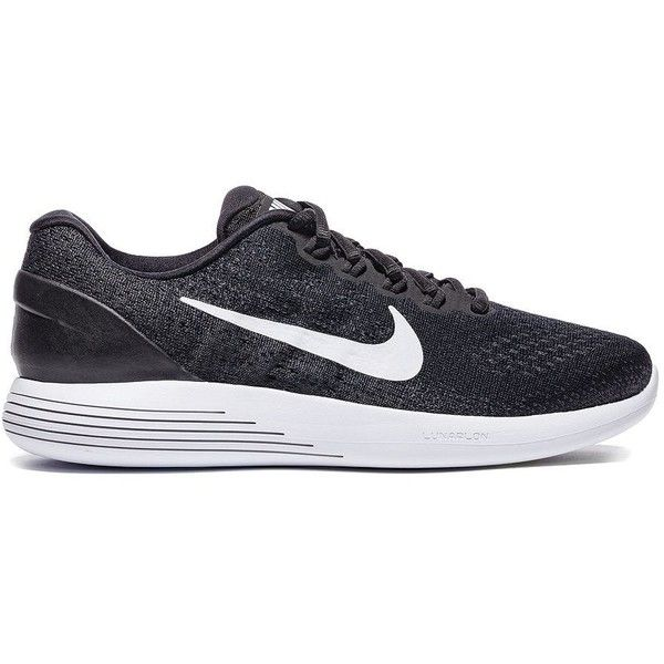 Nike Women's Lunar Glide Running Shoes ($90) ❤ liked on Polyvore featuring  shoes, · Black Running ShoesBlack Lace ...