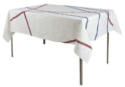 Tovaglia Lugo - 180 x 140 cm Blu Rosso design Irene Bacchi Leonardo Sonnoli for internoitaliano   SDM Products Selection