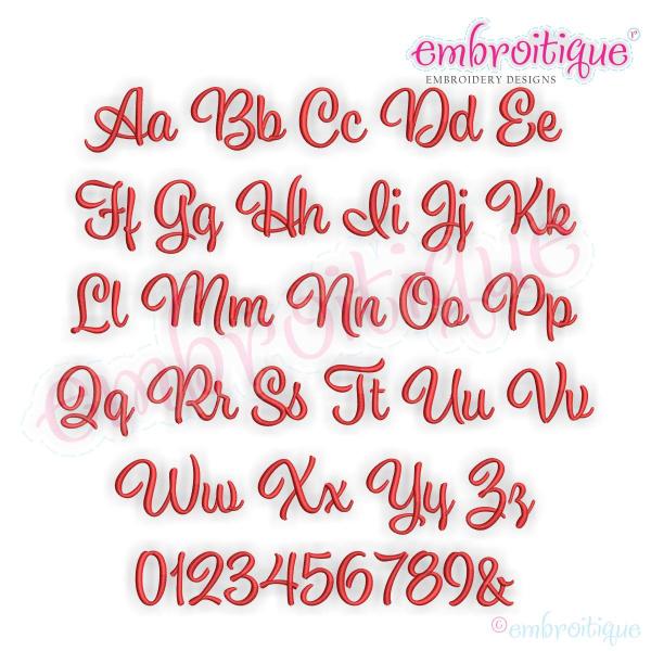 Alphabets - Embroidery Fonts :: Addison Monogram Set- Small