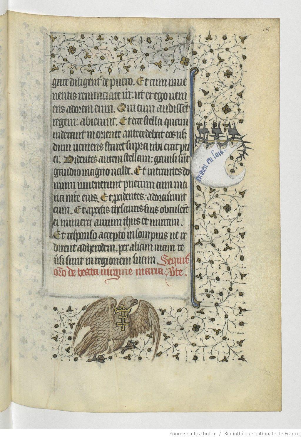 Horae ad usum Parisiensem [Heures de René d'Anjou, roi de Sicile (1434-1480)] | Gallica