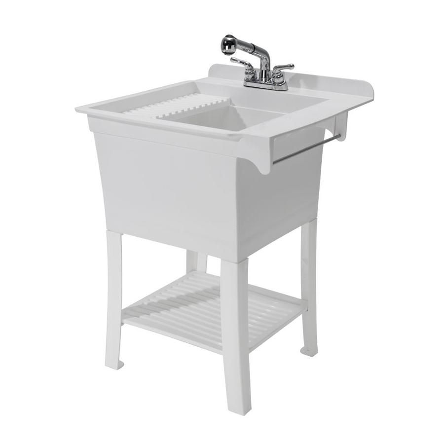 Cashel 25 375 X 25 75 White Freestanding Polypropylene Laundry