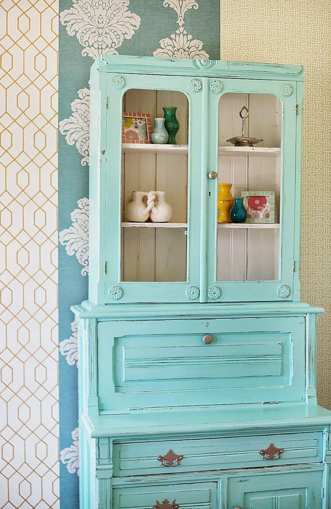 Escritorio con vitrina | Muebles singulares | Pinterest | Vitrinas ...