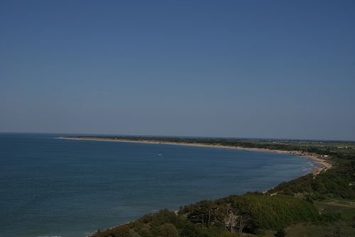 Ile de re from baleines lighthouse  ©CRTPC  http://www.visit-poitou-charentes.com/en/La-Rochelle-Ile-de-Re