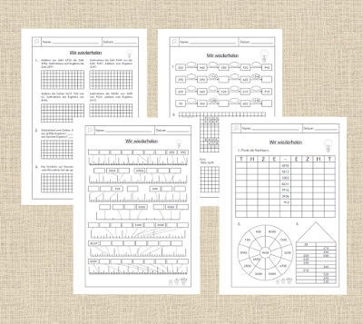frau locke abs zur wiederholung rechnen im 10 000er schule pinterest mathe mathematik. Black Bedroom Furniture Sets. Home Design Ideas