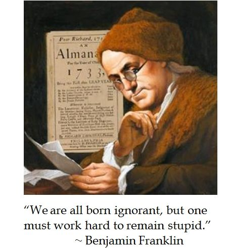 Ben Franklin On Intelligence Quotes Humor Inspirational Quotes Funny Quotes Quotable Quotes