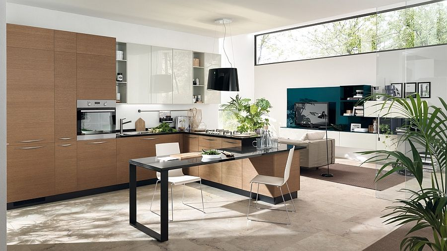 Contemporary Kitchen Design For Small Spaces Entrancing Modular Living Area Kitchen Compositions Versatile Trendy Designs 2018