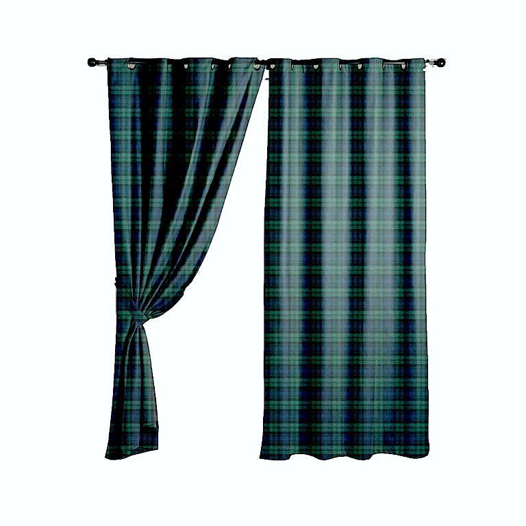 Blackwatch 100% wool tartan curtains