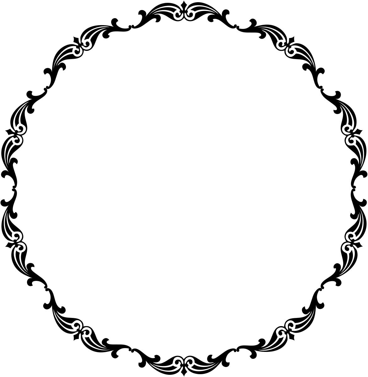 Victorian Handle Circle Free Clip Art Vintage Borders Circle Frames