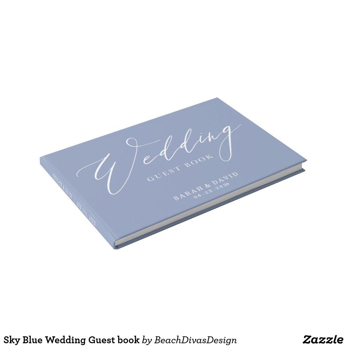 Sky Blue Wedding Guest Book