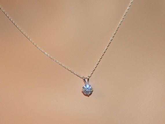 Cubic Zirconia Diamond Necklace by JewelrybyDecember67 on Etsy, $26.00