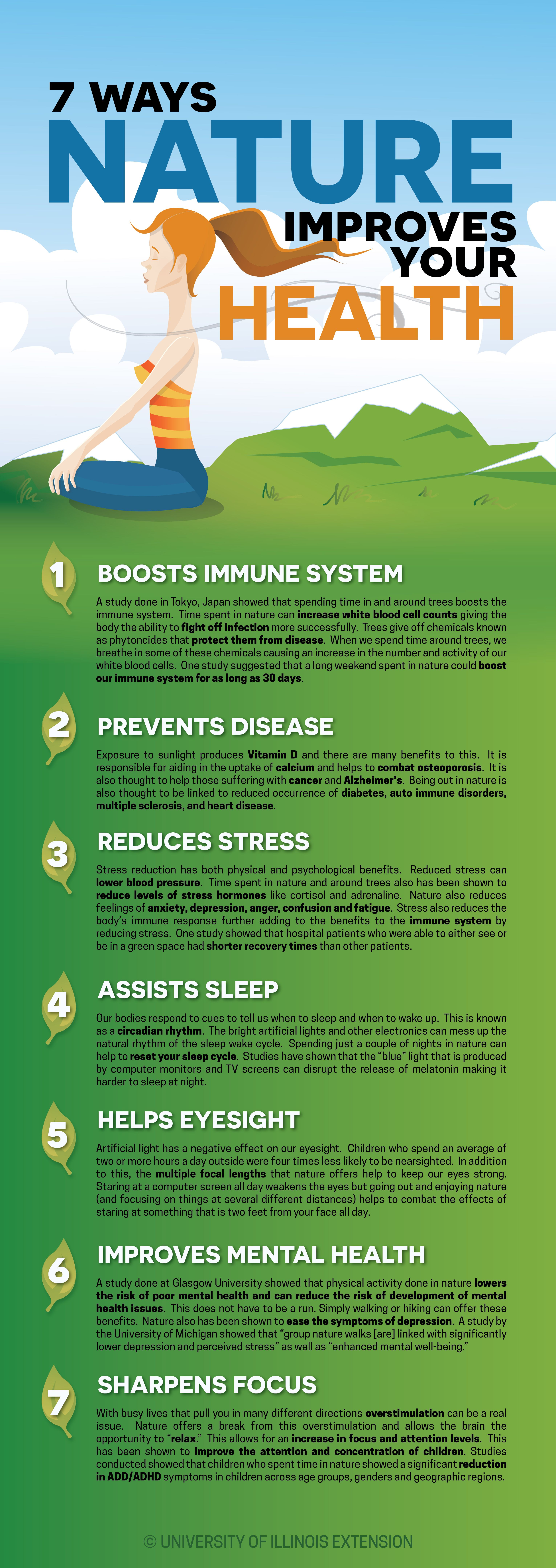 7 Ways Nature Improves Your Health!