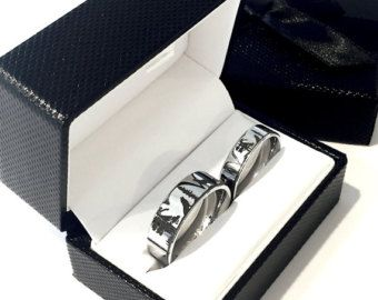 Wolf Rings Couples Wedding Ring Wedding Band Sets Tungsten Band