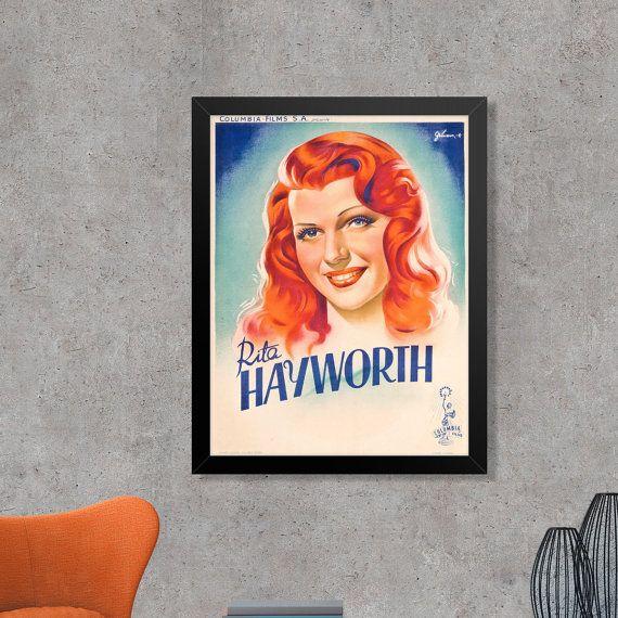 Rita Hayworth Vintage French Promotional Movie by FoxgloveMedia