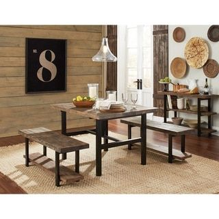 bolton furniture pomona metal and reclaimed wood 48 inch dining  kitchen table  dining table rustic natural  brown bolton furniture pomona metal and reclaimed wood 48 inch dining      rh   pinterest com