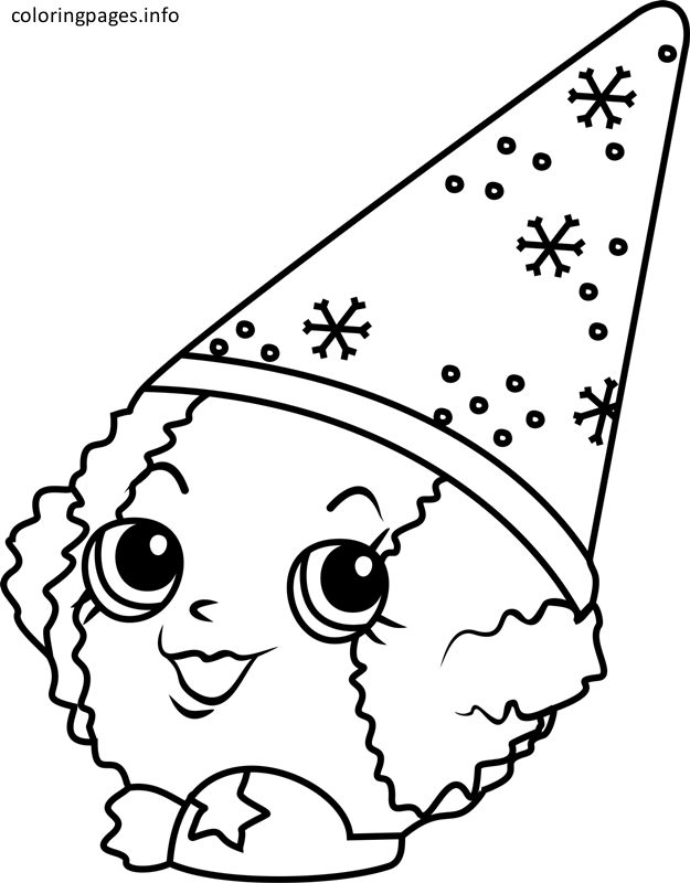 Shopkins Coloring Pages Snow Crush | Färgläggningssidor ...