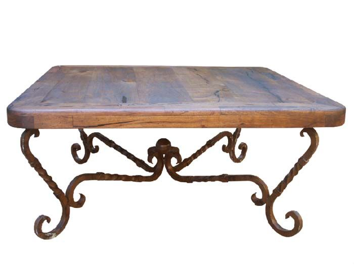 Mesquite And Iron Square Cocktail Table Coffee Table Coffee Table Square Rustic Table Wrought iron cocktail tables