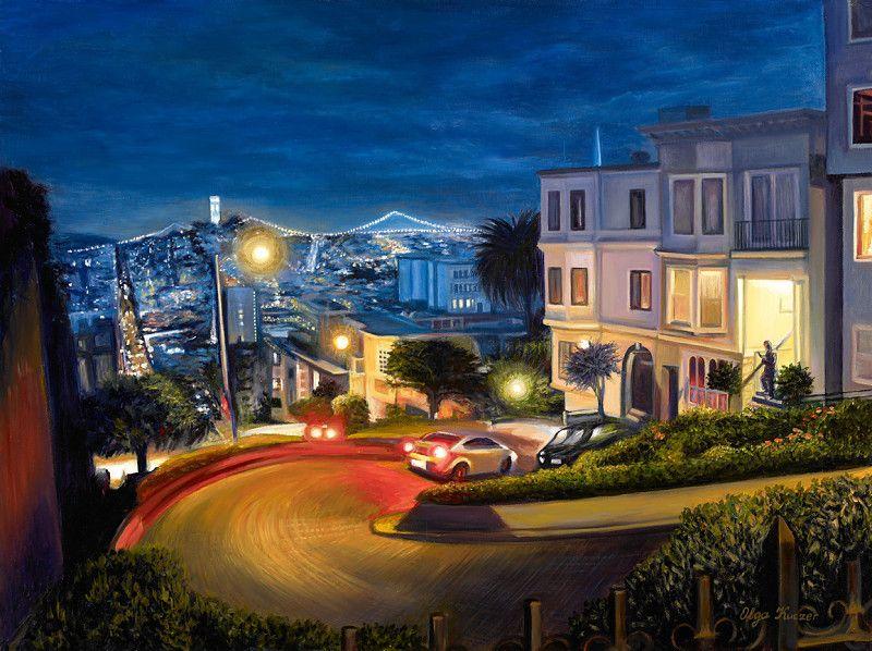 Olga Kuczer | View at Lombard Street in SF