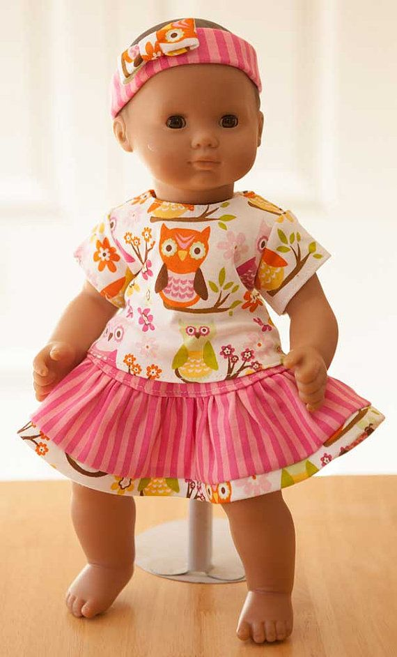 Doll Clothes, Skirt and T-shirt w/ Ladybug fits Bitty Baby and 15 ...
