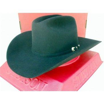 Stetson Cowboy Hat 5X Beaver Fur Felt Black Sierra  b3c9bb1d529