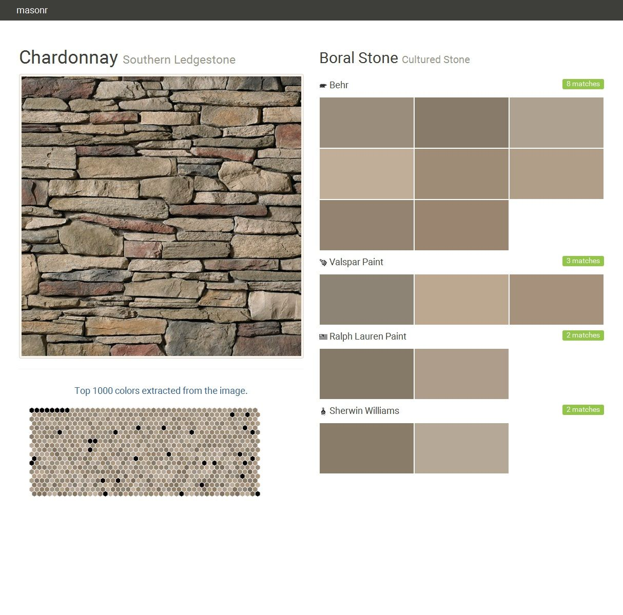 Chardonnay southern ledgestone cultured stone boral for Gray stone paint color