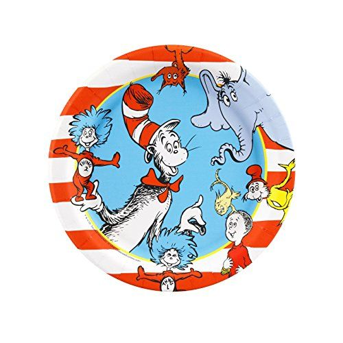 Dr Seuss Party Supplies - Dessert Plates (8) BirthdayExpress https://www.amazon.com/dp/B003ARPGVI/ref=cm_sw_r_pi_dp_x_JCvKyb5RCJTFM