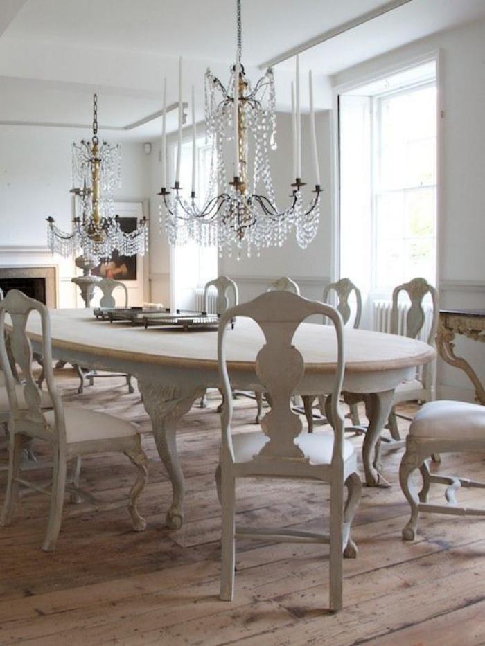 Déco et meubles shabby chic dans la salle à manger - comment créer