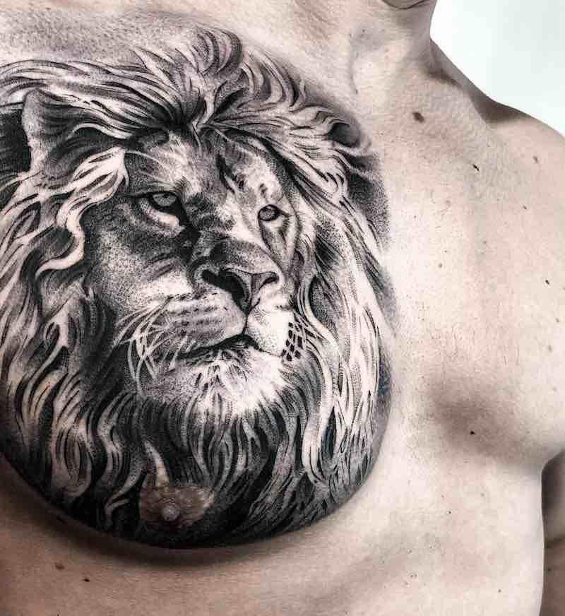 Lion Tattoo Tattoo Insider Mens Lion Tattoo Lion Chest Tattoo Chest Tattoo Men