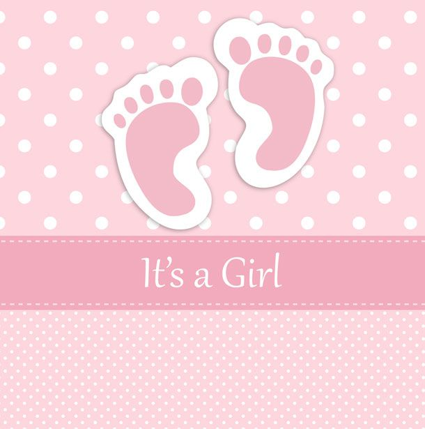 baby girl footprints card free stock photo public domain pictures