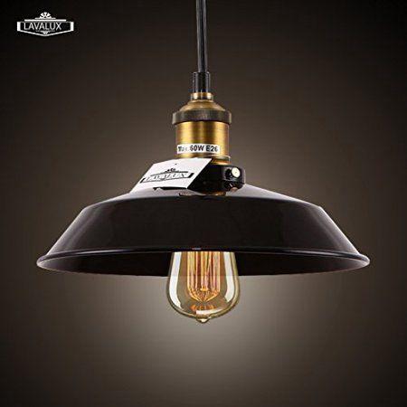 Lavalux Black Vintage Pendant Lighting Metal Polishes Lampshade Ceiling Fixture For Kitchen Island Br Hallway Lights Pinterest