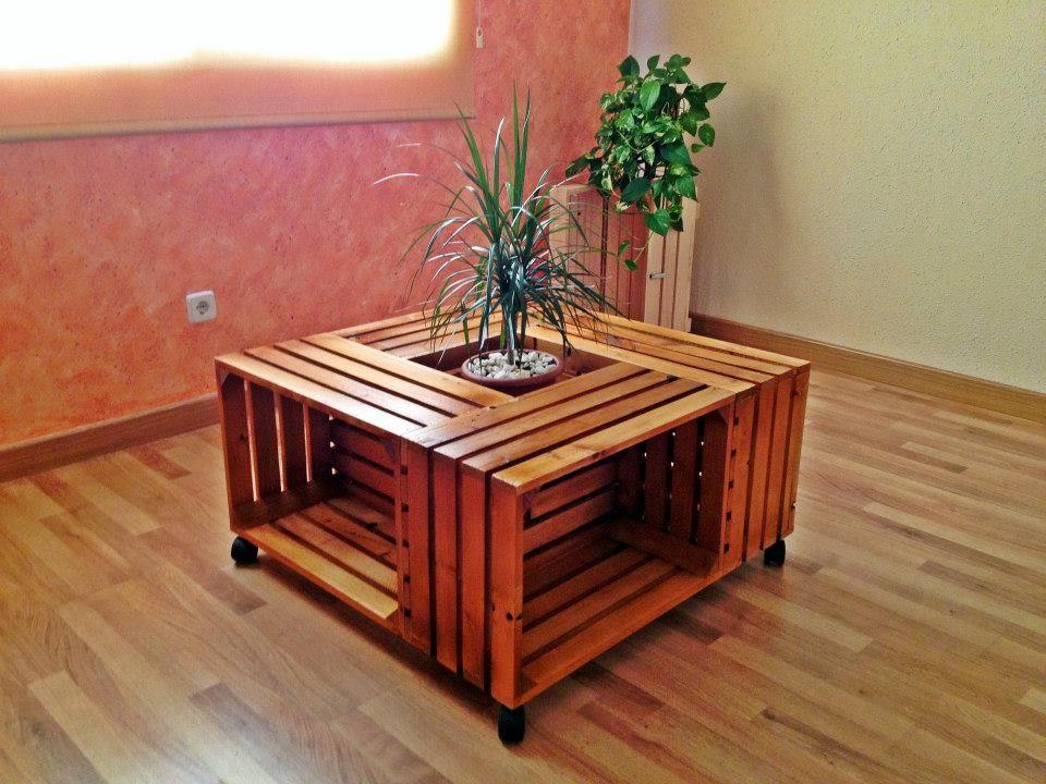 Mesa de centro con cajas de frutas manu pinterest for Muebles con cajas de fruta