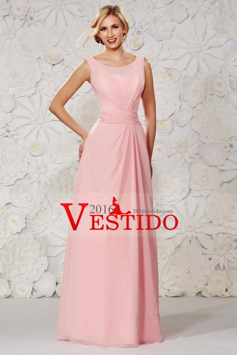Hermosa gasa vestidos de baile una línea primicia piso con las ...
