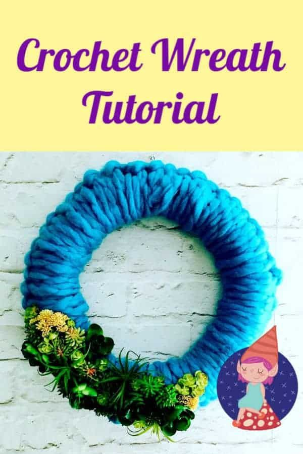 Photo of Crochet wreath tutorial with artificial succulents and giant yarn