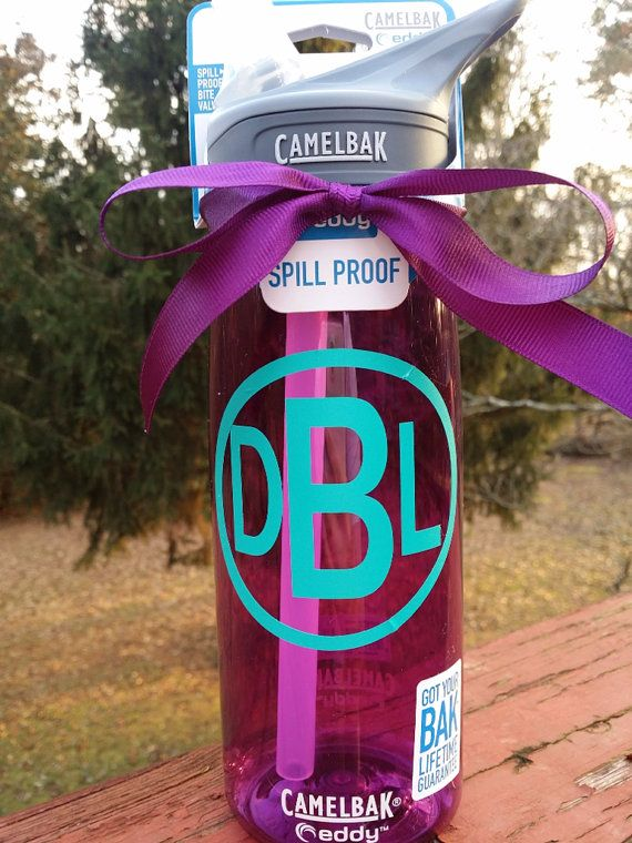 3 75 monogrammed vinyl decal camelbak eddy water bottle on etsy 23 00