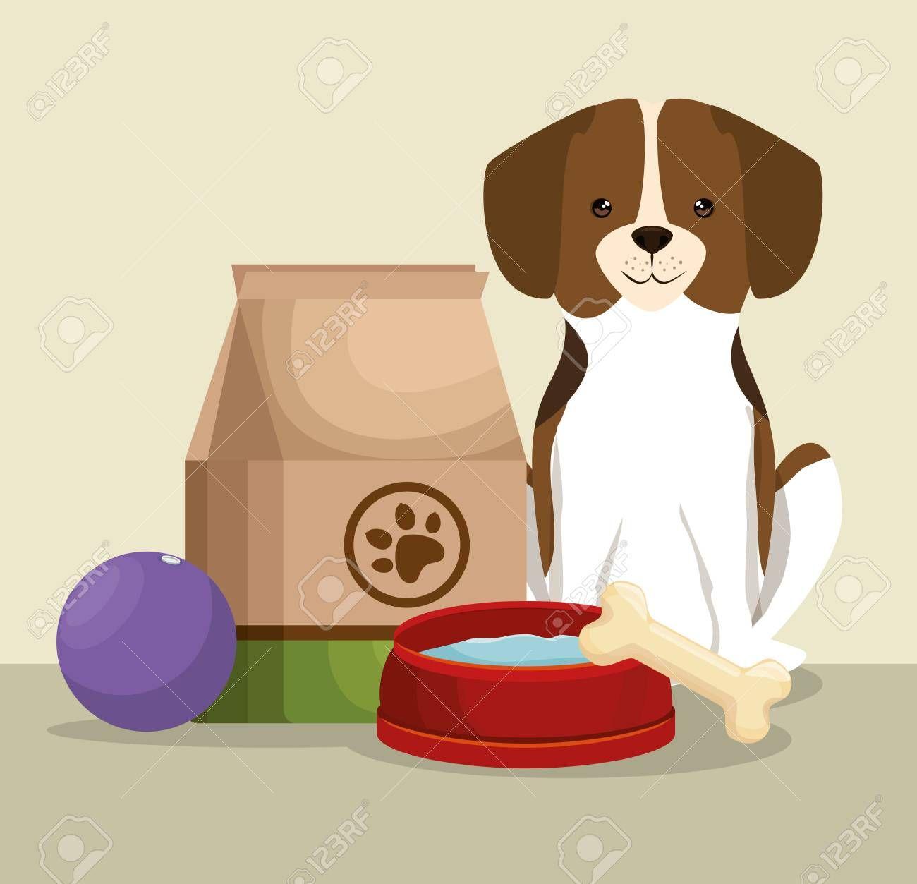 Download Dog With Bone And Food Bag Pet Friendly Vector Illustration Design Sponsored Food Bag Vector Illustration Design Illustration Design Vector Illustration