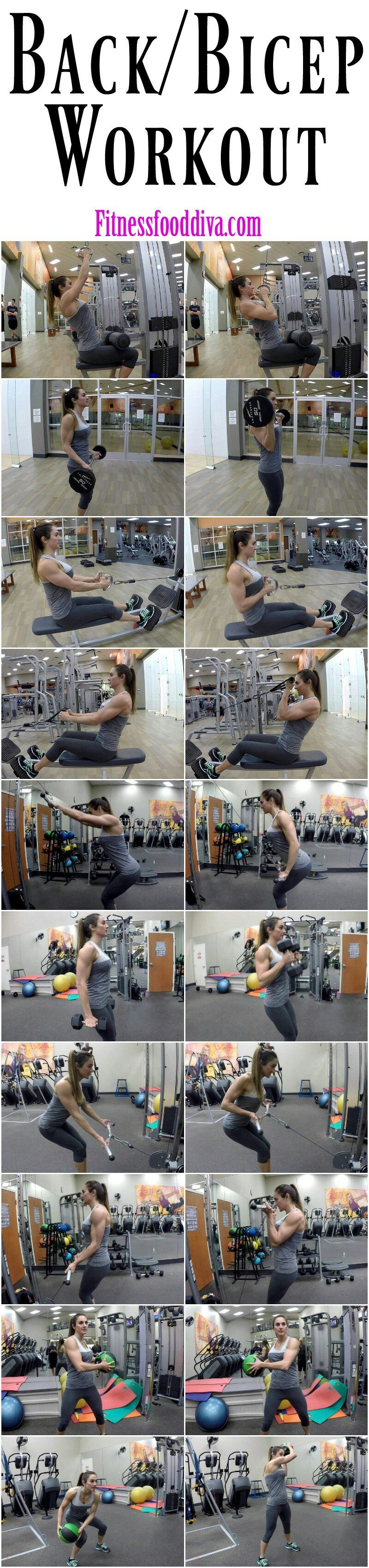 17 Ideas De Espalda Y Bíceps Rutinas De Ejercicio Ejercicios Entrenamiento
