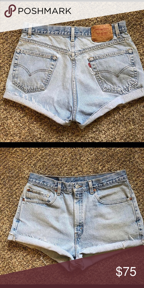 125147c9c8 Vintage Levi's 505 shorts Vintage Levi 505 redone shorts. Size 34 in men's  will fit a 29 or 30 waist in women's Levi's Shorts Jean Shorts