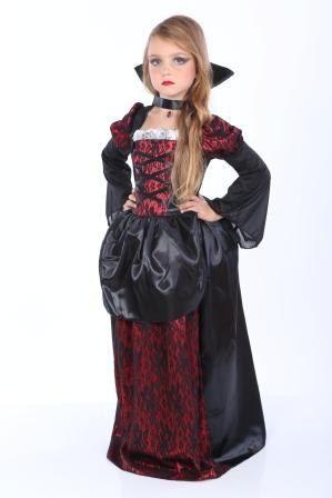 DELUXE VAMPIRESS FANCY DRESS COSTUME GIRLS CHILD/'S HALLOWEEN VAMPIRE
