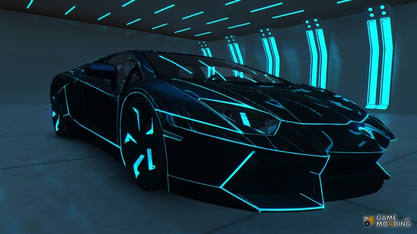 Lamborghini Aventador Tron Edition Tron Legacy Pinterest
