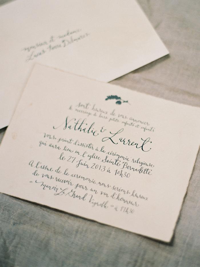 Signora e Mare calligraphy - french wedding invitation   Invitation ...