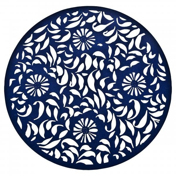 Denby Malmo Malmo Bloom Placemat Placemats Blue And White Felt
