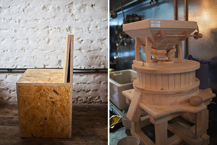 The Uk S First Zero Waste Restaurant Silo Boasts A Raw And Minimalist Interior Aesthetic Minimalist Interior White Oak Nightstand Oak Nightstand