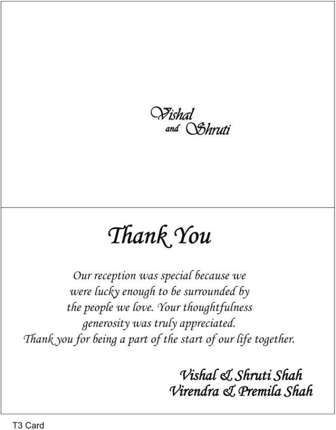 Sample Thank You Letter For Wedding Gift Notes Customers How Write