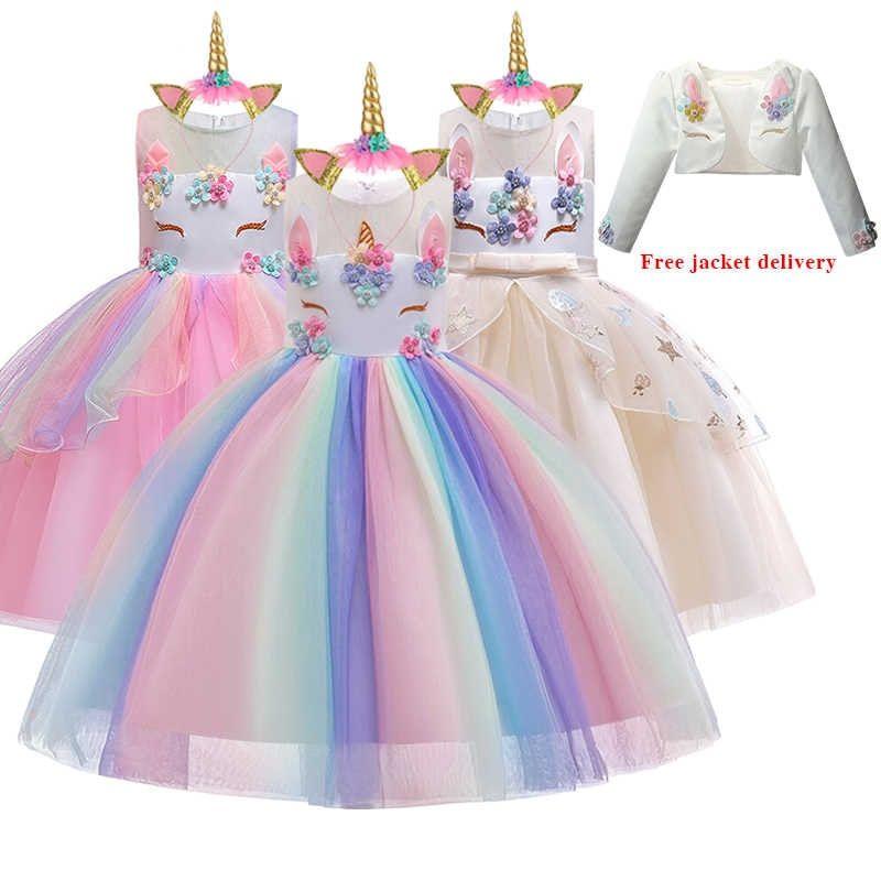 Novedad De Navidad Vestido De Fiesta De Princesa De Gasa Bordado Con Cuentas De Unicornio Ropa Para Ninos Neumatico Gratuito De 2 12 Anos Vestidos Alie En 2020 Vestidos De Fiesta