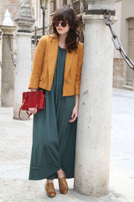 mustard + heathered teal + red