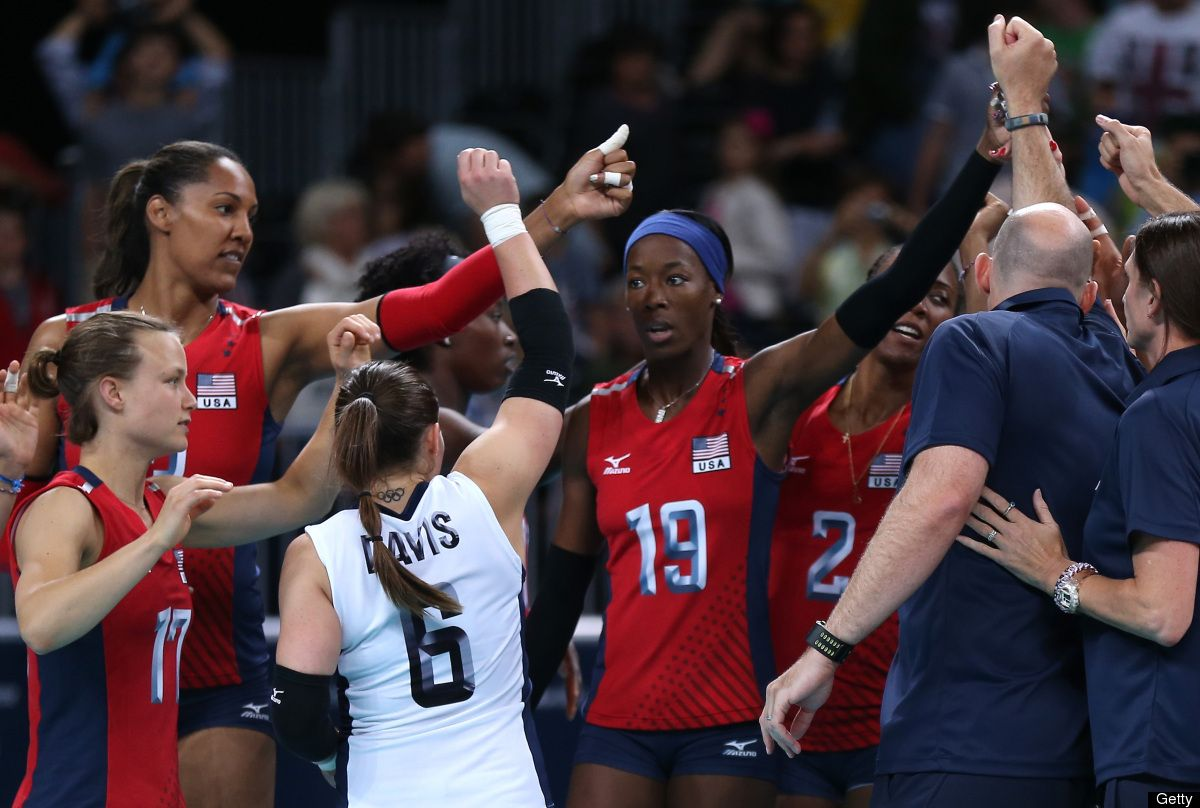 Us Women S Volleyball Team Defeats Brazil In Dramatic Olympics Rematch From 2008 Usa Volleyball Team Women Volleyball Volleyball