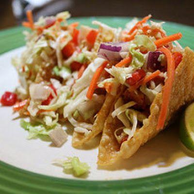 Applebee's Wonton Chicken Tacos Recipe